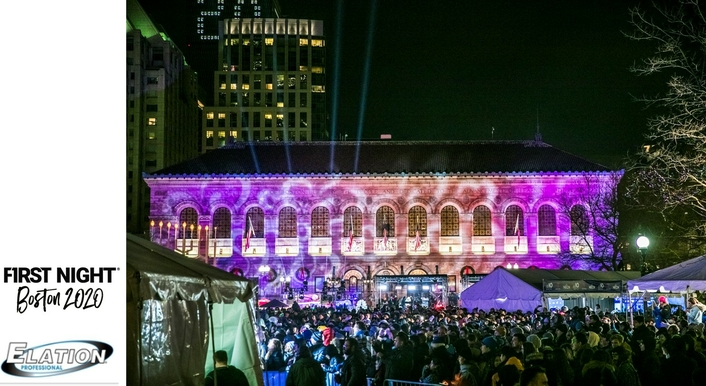 Port Lighting Systems and Elation for First Night Boston