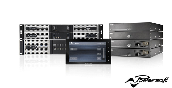 Q-SYS and Crestron plug-ins for Powersoft' amplifiers