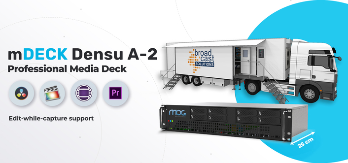 Free up your OB van space with mDECK Densu A-2 by MOG Technologies
