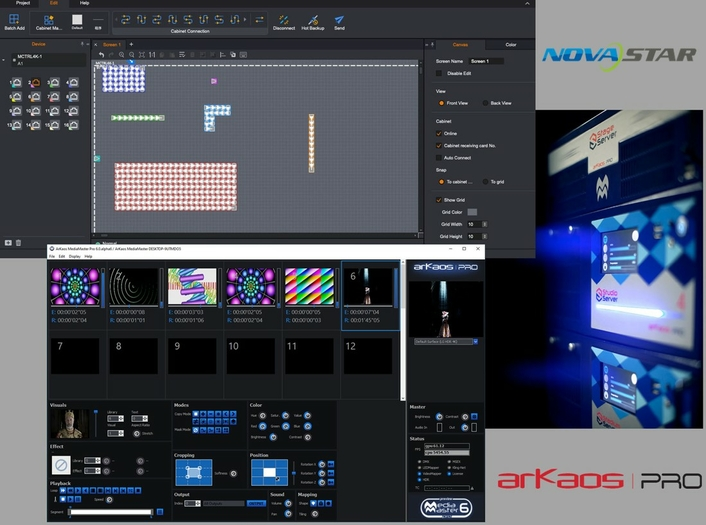 ArKaos and NovaStar Team Up to offer HDR Playback Solution