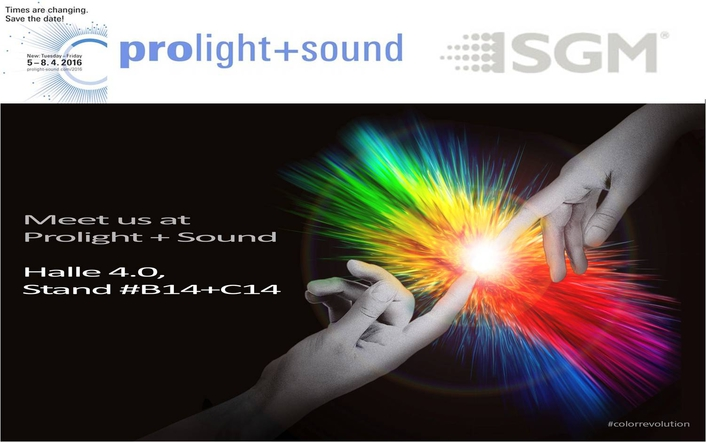 Experience the Color Revolution live with SGM at PL+S 2016