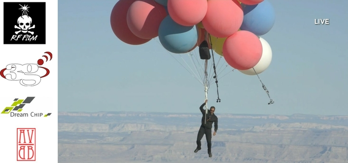 Up, Up and Away.  Dream Chip's ATOM Cameras Take Viewers on David Blaine's  Death-Defying Balloon Stunt with Him