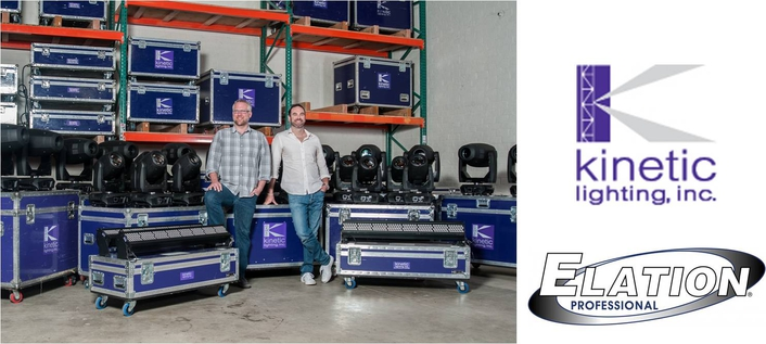 Kinetic Lighting Adds Elation Platinum FLX™ and Colour Chorus™ to Rental Inventory