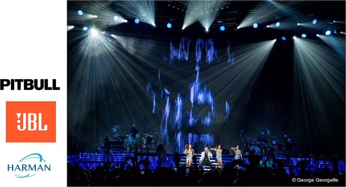 """JBL by HARMAN Delivers Award-Winning Results for Pitbull's """"The Bad Man"""" Tour"""