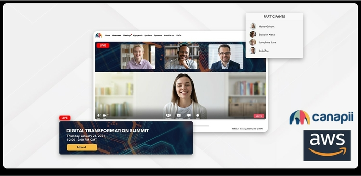 Canapii takes virtual event engagement to the next level with help from AWS