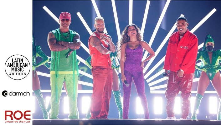 Darmah and ROE Visual Team Up for Latin AMAS Stage with 30 Million Pixels