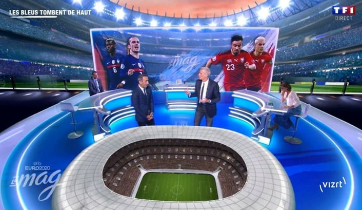 TF1 France delights UEFA Euro 2020 TM audiences with Vizrt XR (Extended Reality)