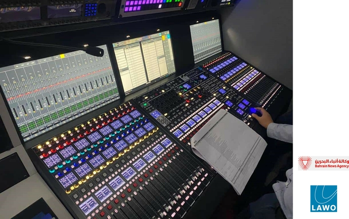 Bahrain TV OB vans controlled by Lawo VSM with mc² production consoles