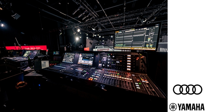Yamaha RIVAGE PM Consoles Mix Audi Q4 e-tron Digital World Premiere