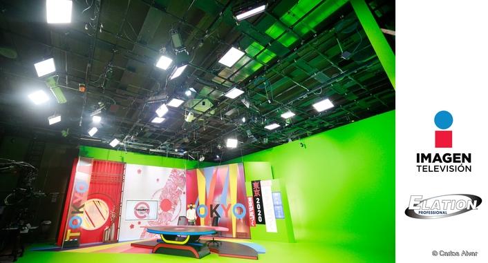 Elation broadcast lighting for Imagen Televisión Olympic Games studio