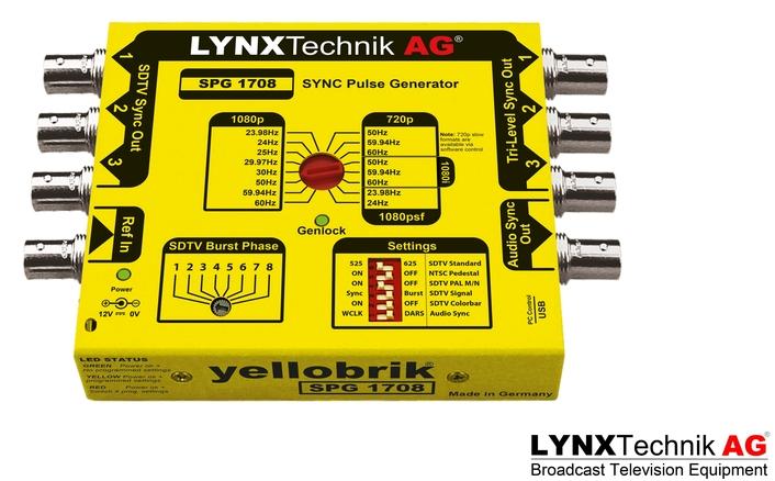 LYNX Technik Announces Second Generation yellobrik Sync Pulse Generator with Genlock