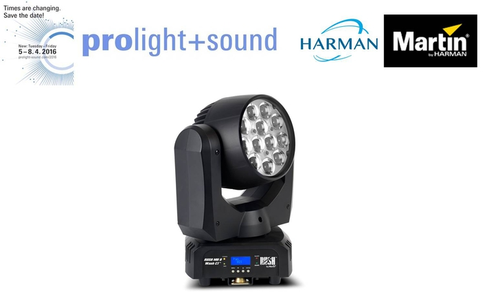Martin by HARMAN Debuts New RUSH Series Fixtures at Prolight + Sound 2016