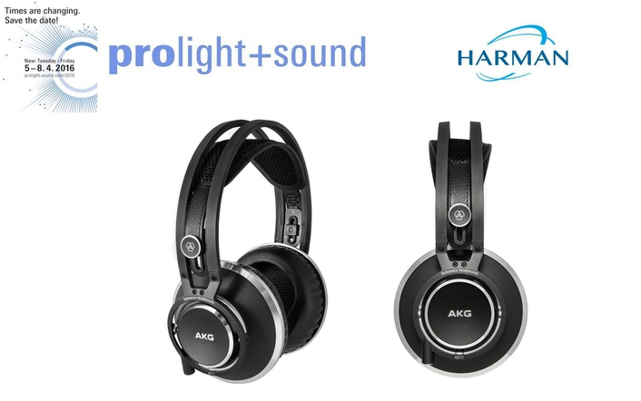 AKG by HARMAN Debuts Flagship Closed-Back K872 Reference Headphones at Prolight + Sound 2016