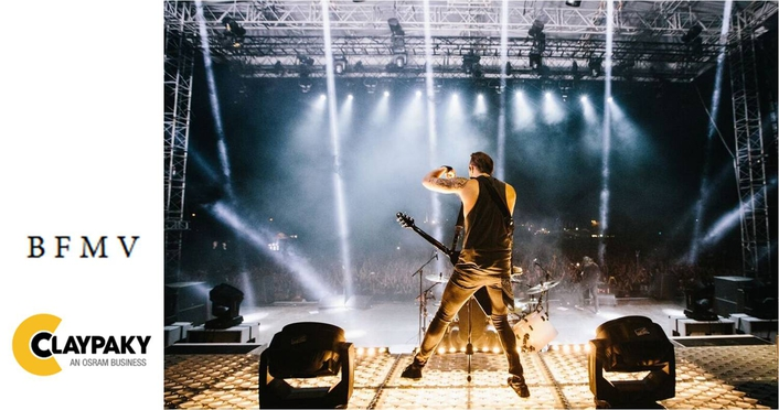 Claypaky rocks on Bullet for my Valentine's UK tour