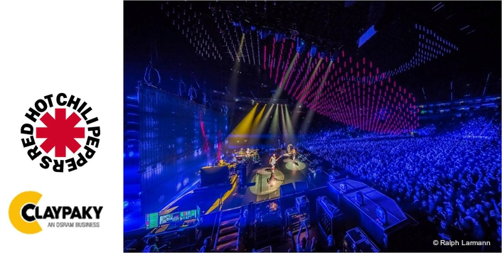 Claypaky B-EYE K20s in tour with the Red Hot Chili Peppers