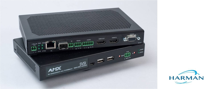 HARMAN Professional Solutions Introduces AMX N2400 Series Encoders and Decoders, Bringing Cinema-Quality 4K Video Distribution to Standard GbE Networks