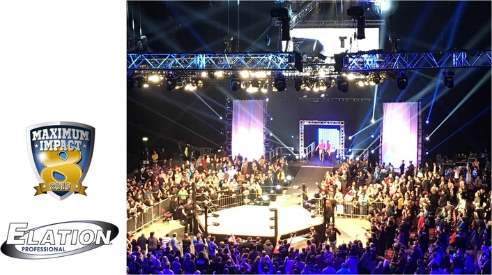 "Elation Lighting Excitement for TNA Wrestling ""MAXIMUM IMPACT 8"" UK Tour"