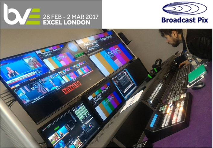 Broadcast Pix Showcases Integrated ProductionSwitchers with Digital Garage at BVE 2017