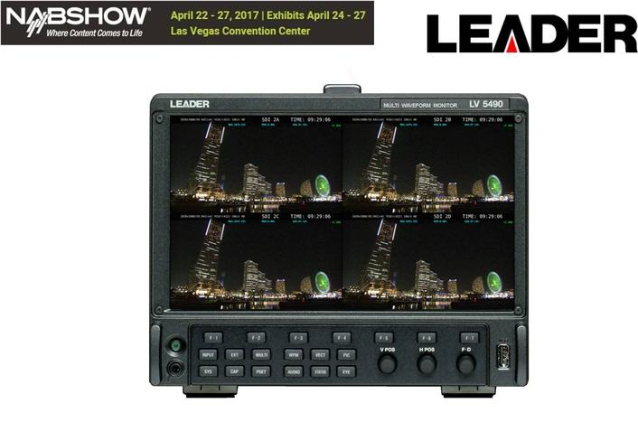 Leader to Introduce Latest LV5490 4K Multiscreen Waveform Monitor Enhancements at NAB 2017, Las Vegas
