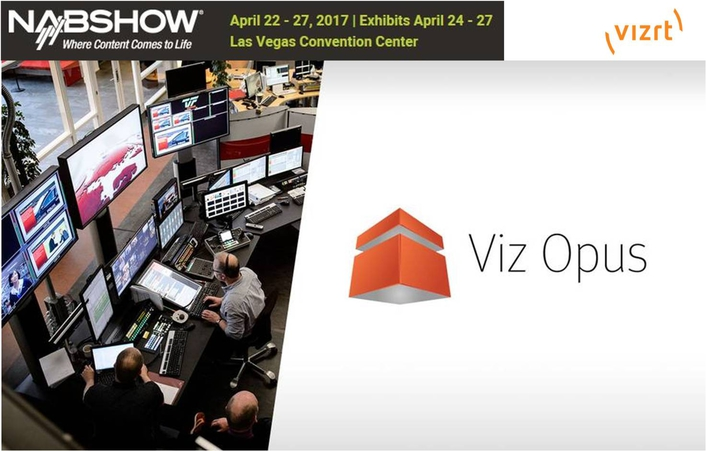 Vizrt prepares companies for the online production future with graphics, video, and IP tools at NAB 2017