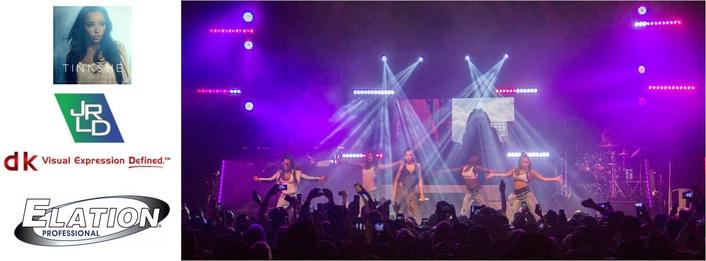 "Tinashe ""Joyride"" World Tour Features Elation Lighting and Video Rig"