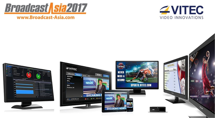 VITEC Solves Streaming and Media Requirements at BroadcastAsia 2017