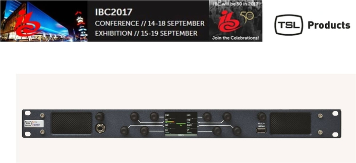 TSL Products enhances audio line at IBC to further ease the SDI to IP transition