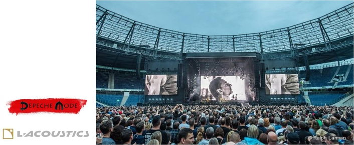 Depeche Mode's audience Just Can't Get Enough of L-Acoustics K1