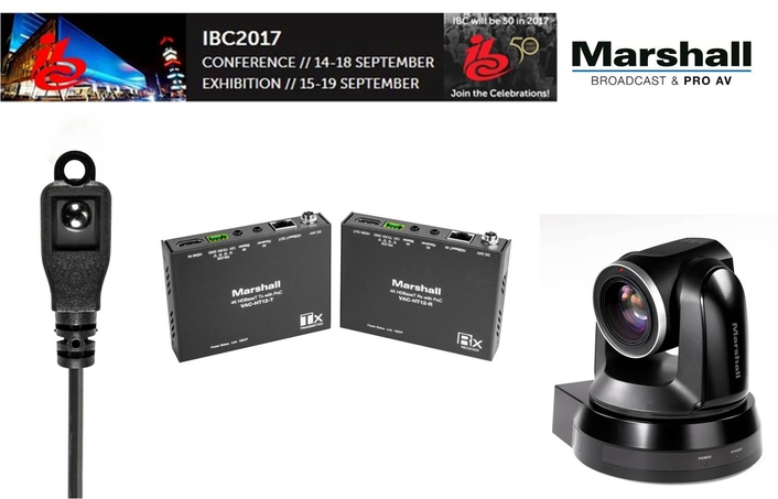Marshall`s Single-Cable-To-Camera Solutions With HDbaset Technology Featured At IBC2017