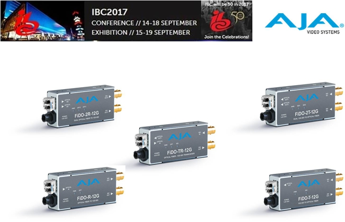 AJA Introduces New FiDO 12G SDI/Optical Fiber Mini-Converters at IBC2017