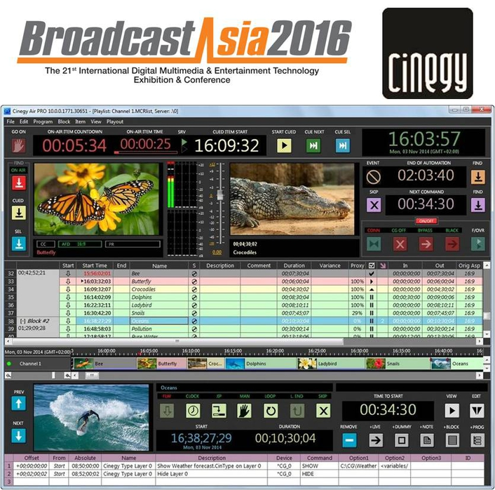 Cinegy to make first appearance at Broadcast Asia 2016