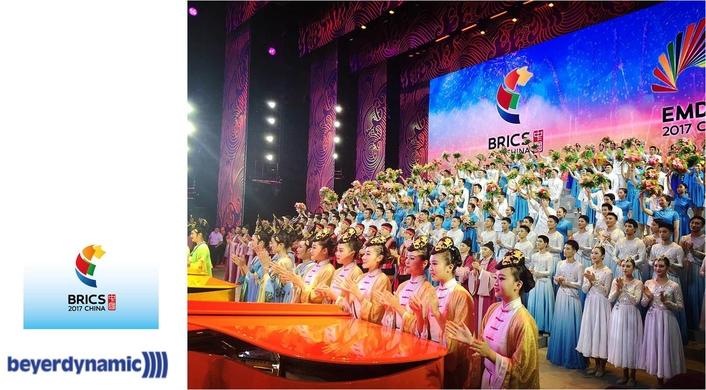 beyerdynamic provided support for the gala of BRICS 2017