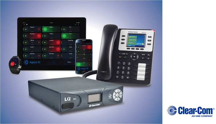CLEAR-COM'S ECLIPSE HX MAKES VOIP CALLS VIA LQ INTERFACES