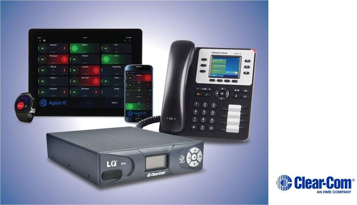 CLEAR-COM'S ECLIPSE HX MAKES VOIP CALLS VIA LQ INTERFACES