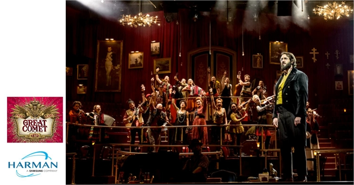 "Martin by HARMAN Powers a Tony Award-Winning Lighting Design for ""Natasha, Pierre & The Great Comet of 1812"""