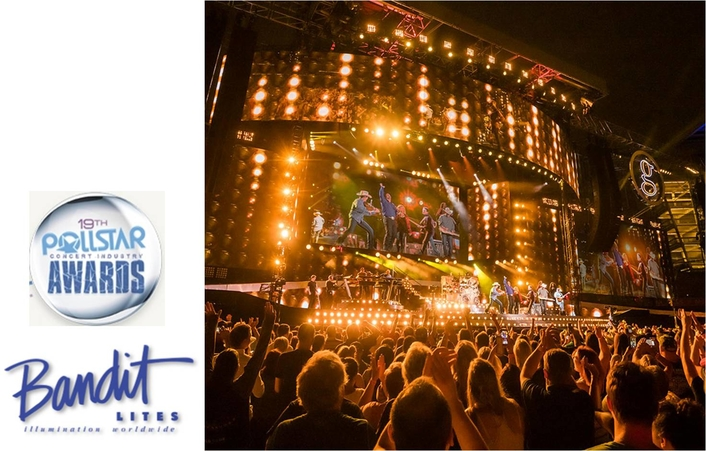 POLLSTAR NOMINATES BANDIT LITES FOR LIGHTING COMPANY OF THE YEAR