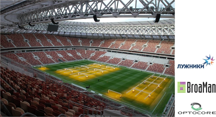 OPTOCORE & BROAMAN MAKE MOSCOW'S NEW-LOOK LUZHNIKI STADIUM READY TO HOST FIFA WORLD CUP AND BEYOND