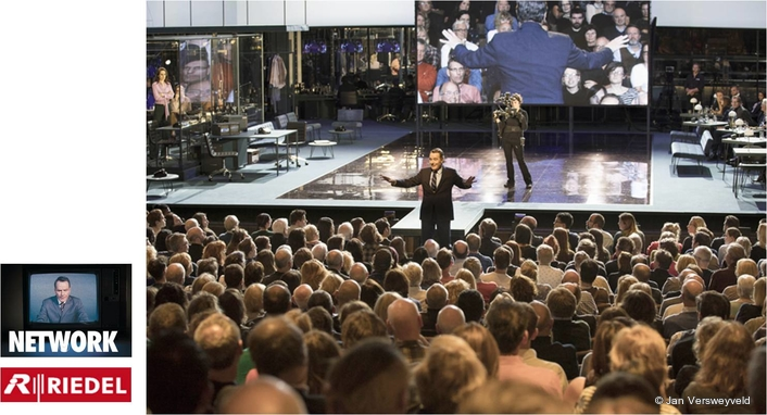 "From ""Network Riedel Products Play Key Onstage Roles at London National Theatre's Presentation of 'Network' Starring Bryan Cranston"""