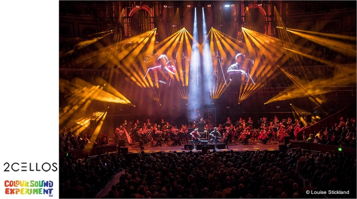New Lighting and Video Investment for 2CELLOS Tour