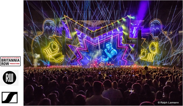 "Britannia Row First To Tour Sennheiser Digital 6000 On Robbie Williams´s ""The Heavy Entertaiment Show"""