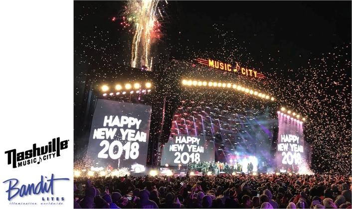 Nashville Celebrates The New Year With Bandit Lites
