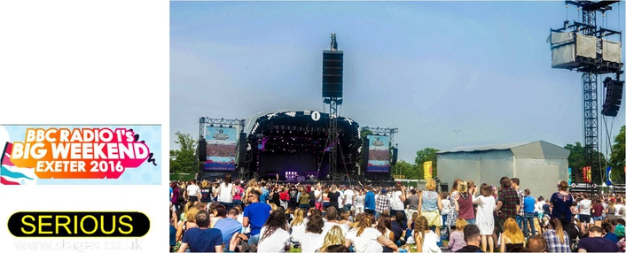 Serious Stages kicked off the festival season with BBC Radio 1's Big Weekend, at Exeter's Powderham Castle, 28-29 May 2016.
