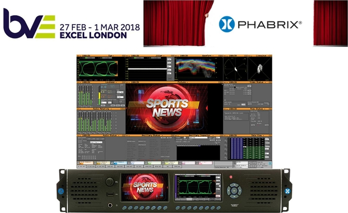 PHABRIX to highlight SMPTE ST 2110 IP, HDR, and 4K/UHD test and measurement solutions at BVE 2018