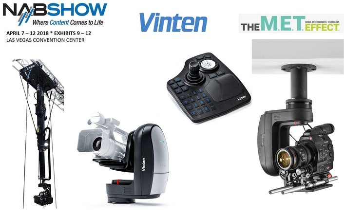 Vinten Products on Display at the 2018 NAB Show