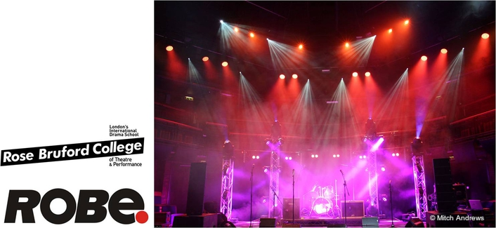 Robe Supports Rose Bruford  Concert Lighting Project