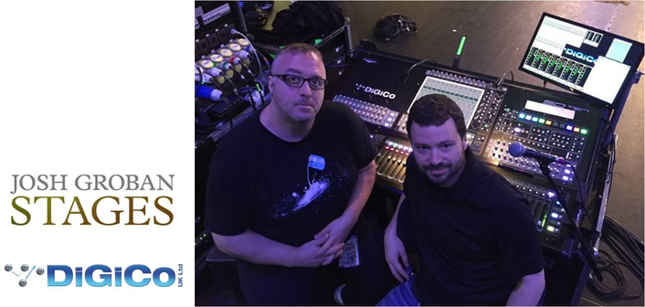DiGiCo goes to South Africa for Josh Groban Stages tour