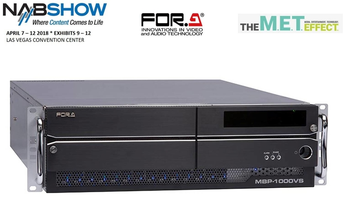NAB 2018: FOR-A to Introduce MBP-1000VS 12G-SDI/IP Multi-Channel Video Server
