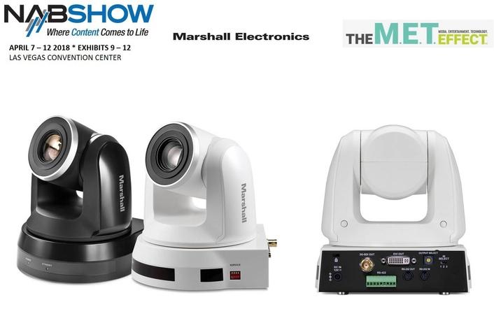 Marshall Electronics Announces New HD PTZ Camera At NAB2018