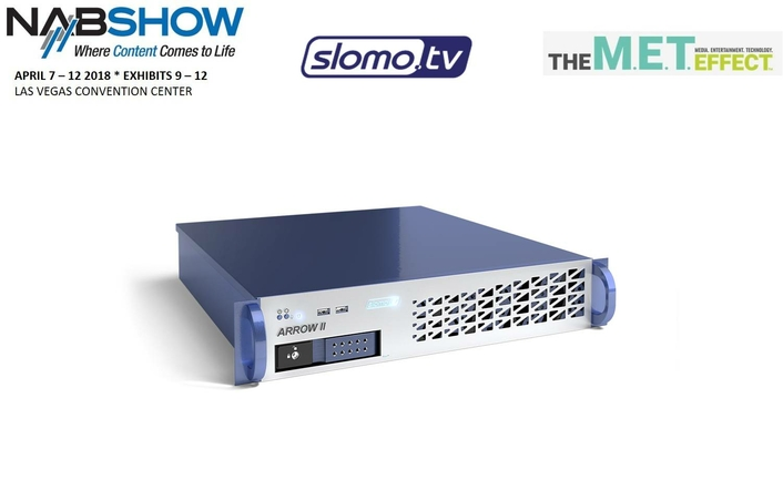 Slomo.tv Sets New Standard in Cost-Effective Broadcast Production and Replay Servers with Launch of Arrow II