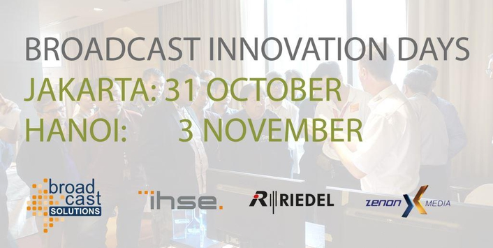 IHSE joins Broadcast Solutions' Broadcast Innovation Days in Asia in October and November